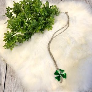 Jewelry - 5/$25 Silver and Green Four Leaf Clover Necklace